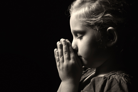 Image result for children prayer silhouette photo