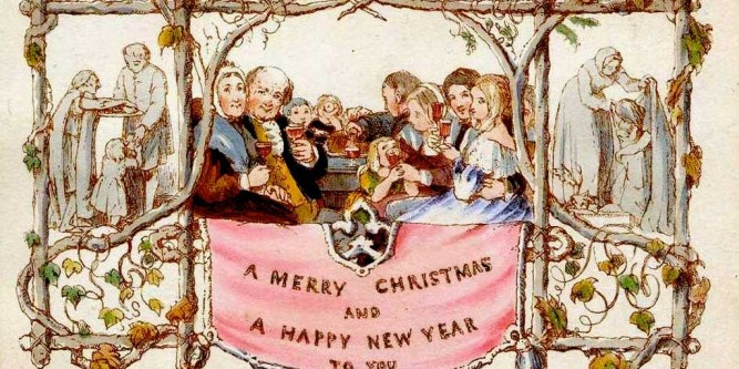 The origin of christmas cards for Who commissioned the first christmas card in 1843